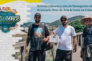 Artistas colorem a orla de Navegantes através do projeto Ilhas de Arte & Cores na Cidade